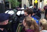 Przepychanki z policją podczas protestu w Gdańsku