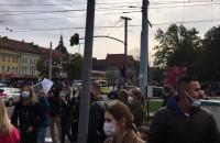 Tłum demonstrantów na Hucisku w Gdańsku