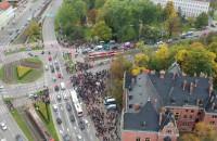 """Protest """"To jest wojna! w Gdańsku z drona"""