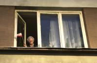 Seniorzy z domu wspierają protesty