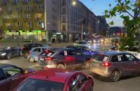 Zablokowane skrzyżowanie w centrum Gdyni