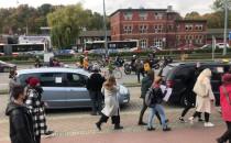 Motocykliści blokują Podwale Grodzkie