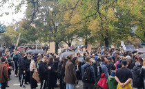 Protest na Targu Drzewnym