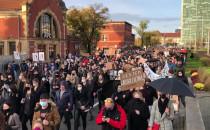 Protest na wysokości dworca PKP Gdańsk Główny