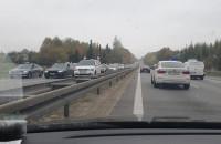 Protest taksówkarzy w Gdańsku