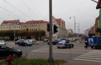Taksówkarze na skrzyżowaniu Kartuskiej i Powstańców Warszawskich