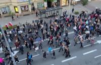 Początek poniedziałkowych protestów w Gdyni