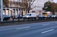 Protest kierowców we Wrzeszczu