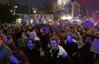 Protest w Gdyni przy ul. Świętojańskiej