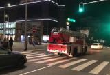 Gdynia. Zagraniczny pojazd strażacki wspiera prostestujących
