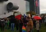 Studenci protestują pod Uniwersytetem Gdańskim