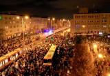 Protesty we Wrzeszczu. Widok z drona