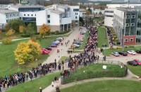 Studenci UG protestują na terenie uczelni
