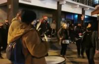 Happening protestujących we Wrzeszczu