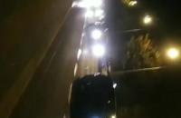 Protest samochodowy jedzie w kier. Pustek Cisowskich