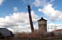 Wyburzenie komina starej parowozowni
