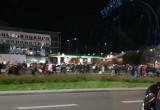Protest w rejonie hali Olivia kieruje się w stronę centrum Gdańska