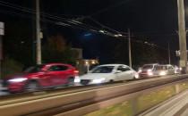 Protest kierowców na ul. Morskiej w stronę...