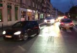Protest samochodowy na Podwalu Staromiejskim