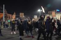 Protestujący są już na Hucisku