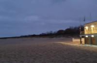 Plaża Stogi jesienią