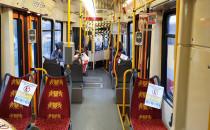 Pusty tramwaj z Chełmu w godzinach szczytu