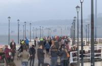 Tłumy na plaży w Brzeznie