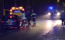 Wypadek na Witomińskiej - akcja służb