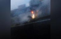 Pali się auto na obwodnicy przed Szadółkami