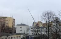 Strażacy w Gdyni ćwiczą na drabinie