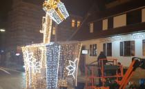 Świąteczny dźwig na Stągiewnej w Gdańsku