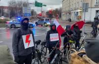 Protestujący dziękują pomorskiej policji
