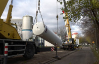Nowy zbiornik na tlen przy szpitalu na Zaspie