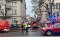 Akcja gaśnicza w kamienicy w centrum Sopotu