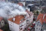 Gaszenie pożaru kamienicy w Sopocie