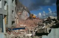 Rozbierany budynek na Wyspie Spichrzów