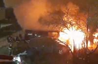 Pożar busa na parkingu w Gdańsku