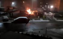 Pożar busa przy Fundamentowej