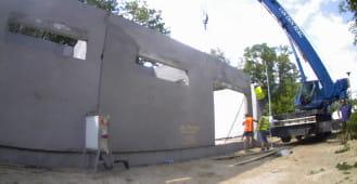Montaż prefabrykowanych ścian keramzytowych w Pile - cz. II