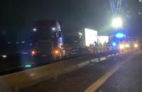 Korki po zderzeniu ciężarówek na obwodnicy
