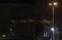 Migające światło na stadionie