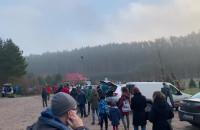 Duża kolejka po choinki w Marszewie