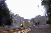 Montaż ścian keramzytowych w Pile