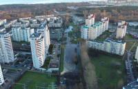 Zalana ul. Olsztyńska widok z drona