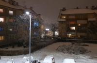 Śnieżek prószy w Gdańsku. Malowniczo