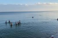 Morsowanie na plaży pod Polanką Redłowską