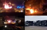 Pożar aut dostawczych w Gdańsku - kompilacja