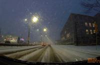 Śliskie drogi w Gdyni