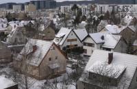 Śnieg w końcu zawitał na Przymorze