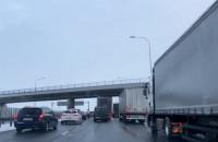 Korek przy bramkach na autostradzie